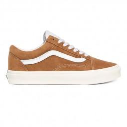 Chaussures Vans Old Skool PIg Suede beige foncé