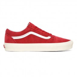 Chaussures Vans Old Skool Pig Suede rouge