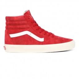 Chaussures Vans SK8-Hi Pig Suede rouge