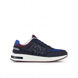 Chaussures Armani Exchange Sneakers XUX052 bleu marine bordeaux