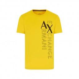T-shirt col rond Armani Exchange noir logo noir