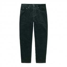 Pantalon velours côtelé Carhartt Newel Pant vert foncé
