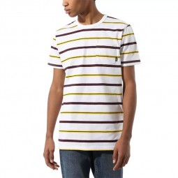 T-Shirt manches courtes Vans Condit Stripe blanc rayé