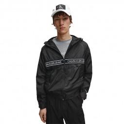 Veste zippée à capuche Calvin Klein noire