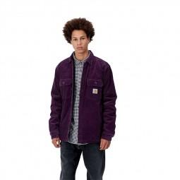 Surchemise velours côtelé Carhartt Whitsome Jac violet