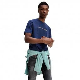 T-shirt Tommy Jeans Logo bleu marine