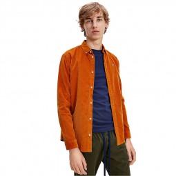 Chemise Tommy Jeans en velours côtelé orange
