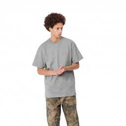 T-shirt manches courtes Carhartt Chase gris chiné