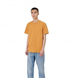 T-shirt manches courtes Carhartt Chase jaune