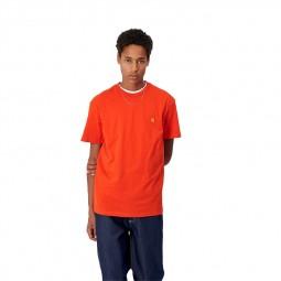 T-shirt manches courtes Carhartt Chase orange
