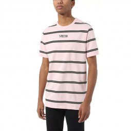 T-Shirt manches courtes Vans Sixty Sixers rose rayé