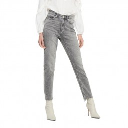 Jeans Only taille haute gris clair
