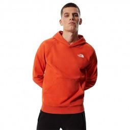 Sweat capuche The North Face Raglan Red Box orange