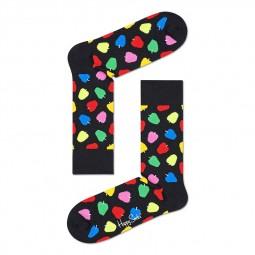 Chaussettes Happy Socks Apple noires