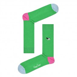 Chaussettes Happy Socks Ribb Embroidery vert
