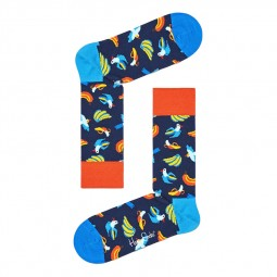 Chaussettes Happy Socks Banana Bird bleu marine