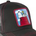 Casquette Snoopy noire