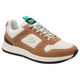 Chaussure Lacoste Joggeur 2.0 blanc marron