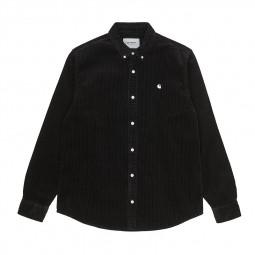 Chemise velours côtelé Carhartt Madison Cord Shirt noir