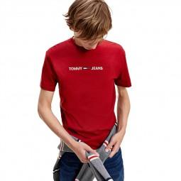 Tee shirt à logo coton bio Tommy Hilfiger