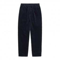 Pantalon velours côtelé Carhartt Flint Pant bleu marine