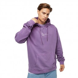 Sweat à capuche Karl Kani Small Signature Washed violet