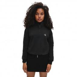 Sweat Zippé Calvin Klein Femme noir