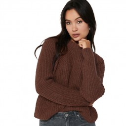 Pull manches longues Only femme marron