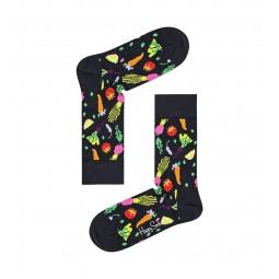 Chaussettes Happy Socks Veggie noir légumes