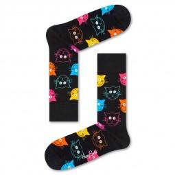 Chaussettes Happy Socks Cat noires chats