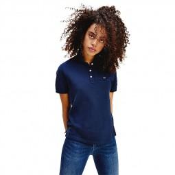 Polo ajusté Tommy Jeans femme bleu marine