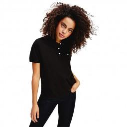 Polo ajusté Tommy Jeans femme noir