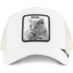 Casquette Goorin Bros Diva blanc chat