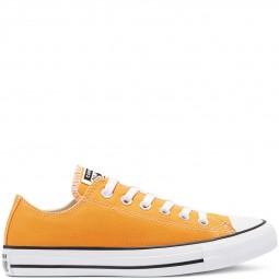 Converse toile basse orange