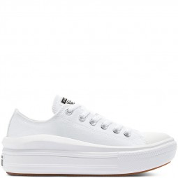 Converse toile basse blanches plateforme