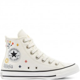 Converse toile montante it's okay to wander écru