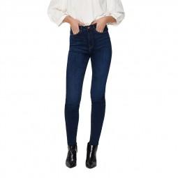 Jeans Only Paola taille haute bleu foncé