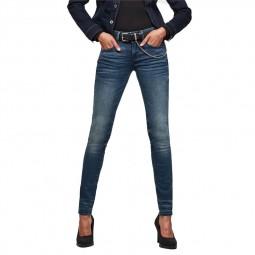 Jeans G-Star Lynn Mid Skinny brut délavé