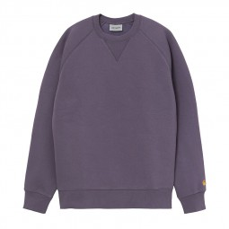 Sweat col rond Carhartt Chase violet