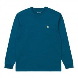 T-shirt manches longues Carhartt Chase bleu canard