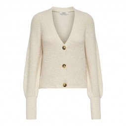 Cardigan mailles Only Clare beige