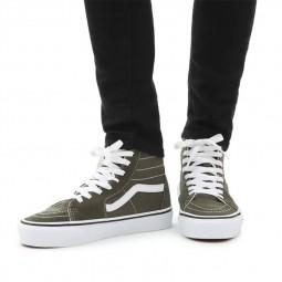 Chaussures Vans SK8-Hi vertes