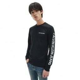 T-shirt manches longues Calvin Klein noir