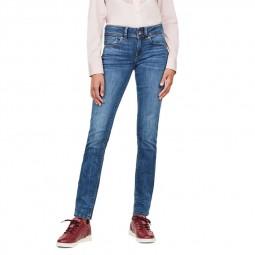 Jeans G-Star Midge Straight bleu délavé