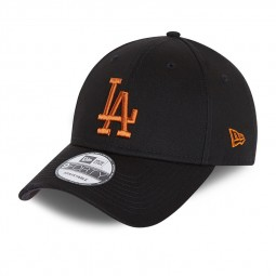Casquette New Era 9FORTY Los Angeles noire orange