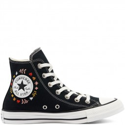 Converse toile montante noires It's Okay to Wander