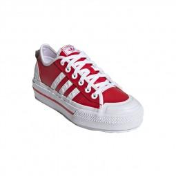 Chaussures Adidas Nizza Platform rouge