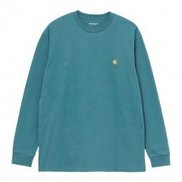 T-shirt manches longues Carhartt Chase bleu vert