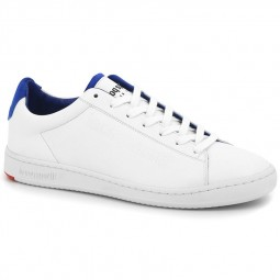 Chaussures Le Coq Sportif Blazon blanches bleu