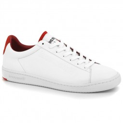 Chaussures Le Coq Sportif Blazon blanches rouge